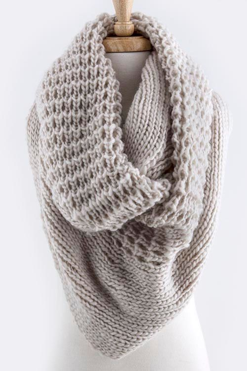 Shop Suey Boutique - ORLY SCARF - Beige, $22.50 OVERSIZED KNIT INFINITY SCARF