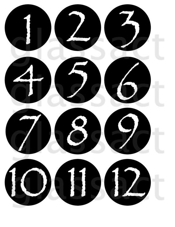 Diy Mason Jar Lid Table Numbers Template By Glassactsupply