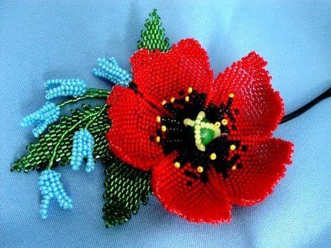 Цветы в технике Мозаичного плетения - YouTube