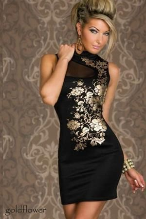 GOLDFLOWER Dámské šaty, párty šaty, společenské šaty