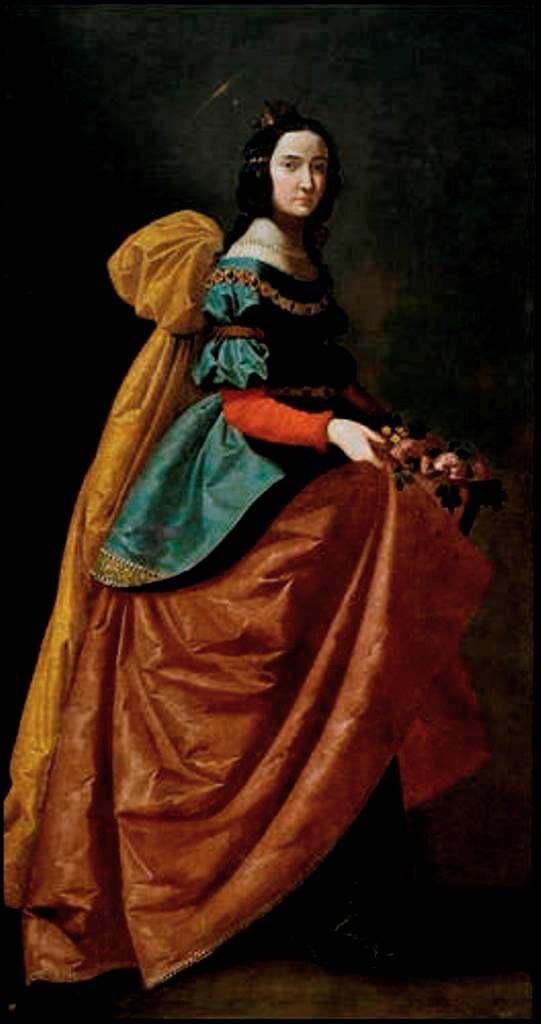 Santa Isabel de Portugal, 1635. Francisco de Zurbarán. Museo Nacional del Prado.