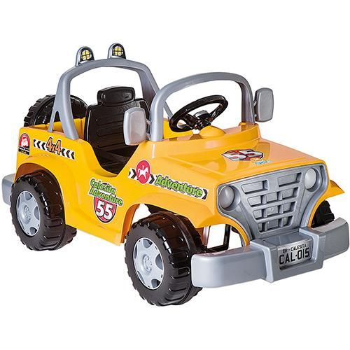 Mini Veículo Infantil Carro Adventure 4x4 Amarelo - Calesita