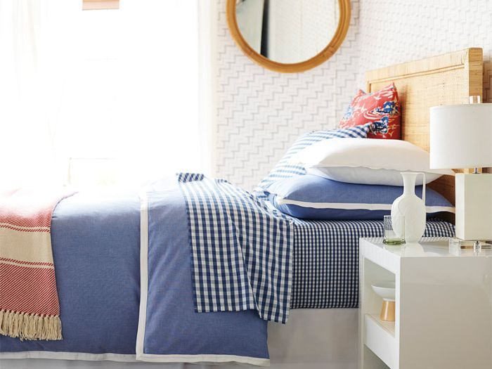 The Freshest Preppy Bedding Around via @MyDomaine
