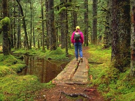 Hiking in Kodiak, Alaska.