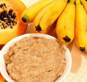 Receita de puré de papaia e banana - Receitas para bebés Ingredientes (para 2 doses) 1/2 a 1/4 ...