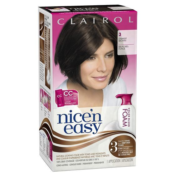 Clairol Nice 'n Easy Foam Hair Color 3 Darkest Brown 1 Kit -- Check out this great product.