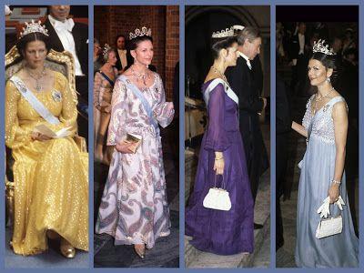 Königliche Juwelen: Königin Silvia bei den Nobelpreisverleihungen von ...