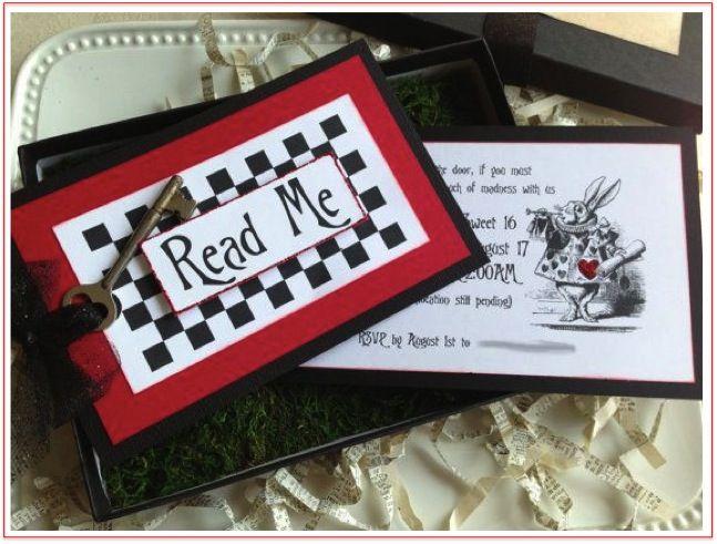 Alice in Wonderland/Mad Hatters Tea Party invitation ideas