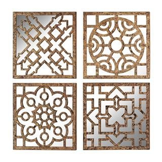 Check out the Sterling Industries 138-137-S4 Mirrored Wall Panel in Gorseiron Gold - Set of 4