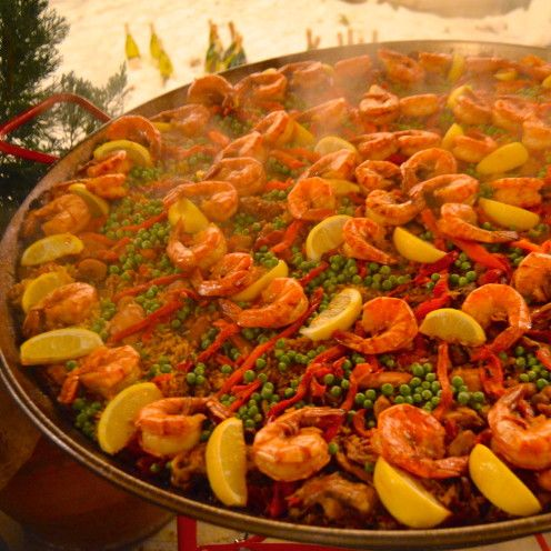 Christmas Spanish Style, A Paella Party & Recipe in Lake Arrowhead, California, www.AfterOrangeCounty.com