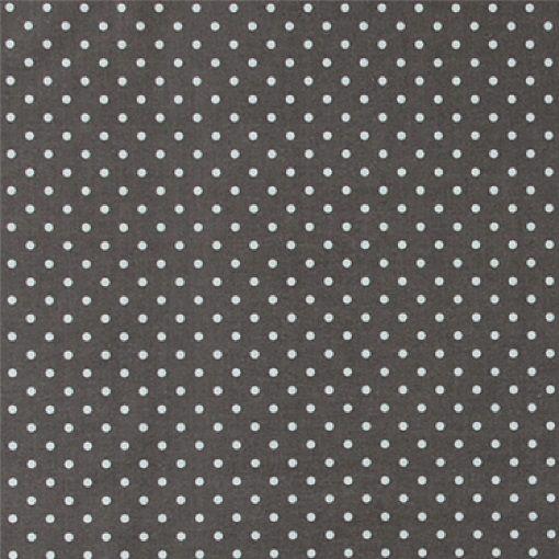 Bomull grå m hvite prikker