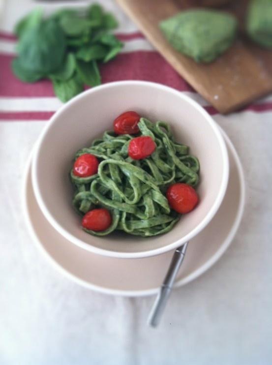 how to make spinach pasta | Recipes - Pizza & Pasta & Risotto | Pinte...