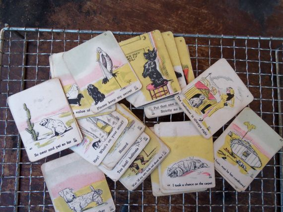 Bawdy Vintage 1940's Collector Cards by bettyrayvintage on Etsy, $24.00