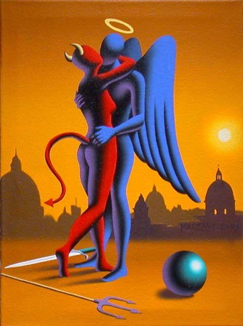 Il mondo di Mary Antony: Gli amanti di Mark Kostabi