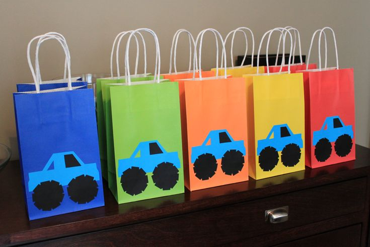 Monster Truck birthday goodie bags