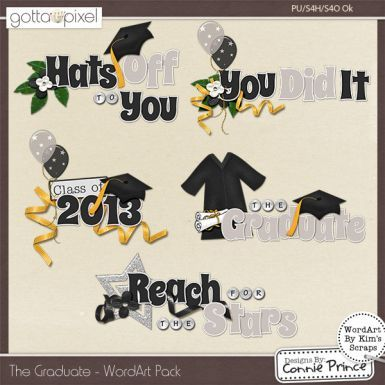 The Graduate - Digital Scrapbook WordArt. $2.99 at Gotta Pixel. www.gottapixel.net