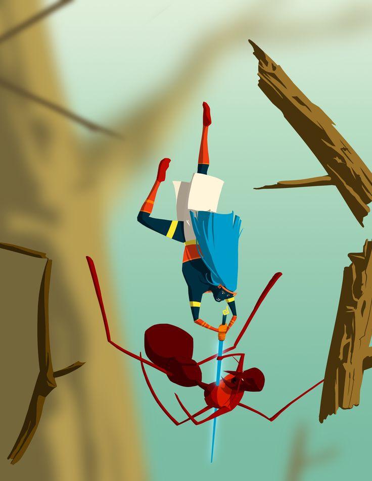 Keradó (8) Concept art #pelea #fight #caída #fall #ilustración #illustration #concept art #artwork