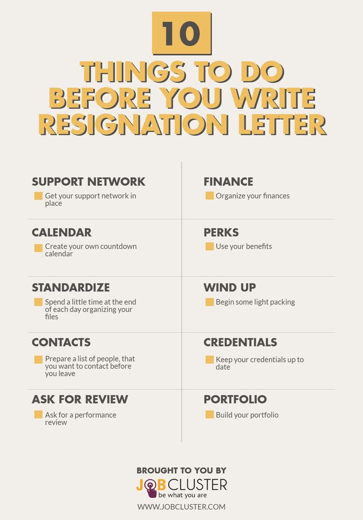 10 Things to do before writing the resign letter