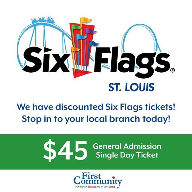 Did You Know We Sell Discounted Six Flags Tickets Stop In To Your Local Branch To Purchase Stl Sixflagsstl Sixflags Six Flags Company Culture Branch