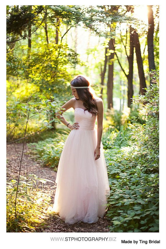 Beauty and the Beast-Simply Blush tulle wedding by TingBridal