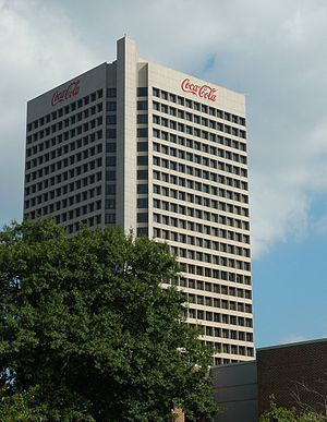 Coca-Cola headquarters, Atlanta, Georgia.  Atlanta-based Coca-Cola Company is the world's largest beverage company. Coke has almost 500 brands, sold in more than 200 countries (nearly 1.6 billion servings a day). Coca-Cola Enterprises, also based in Atlanta, bottles and distributes the beverages.