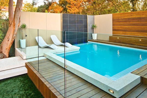 Hidden Decking Channel Pool Fence