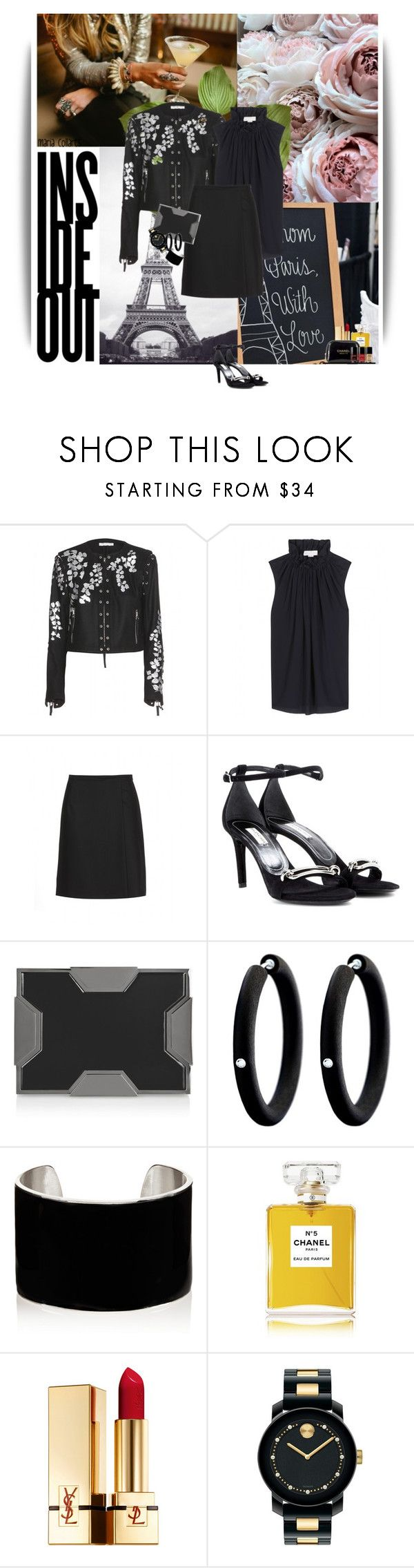 """Back in Black"" by mariacollares ❤ liked on Polyvore featuring Dries Van Noten, STELLA McCARTNEY, Chloé, Balenciaga, Lee Savage, André Ribeiro, IaM by Ileana Makri, Chanel, Yves Saint Laurent and Movado"