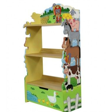 Teamson Happy Farm Themed Children's Bookcase One of our top selling children's wooden bookcases of all time, this quality happy farm themed bookcase by Teamson looks amazing in any playroom or child's bedroom, it's so handy and the bookshelf's are just the right height for boys and girls #TeamsonHappyFarm #childrensFarmThemedFurniture #childrensbookcase http://wooden-toys-direct.co.uk/brands/teamson/teamson-happy-farm-children-s-bookcase.html
