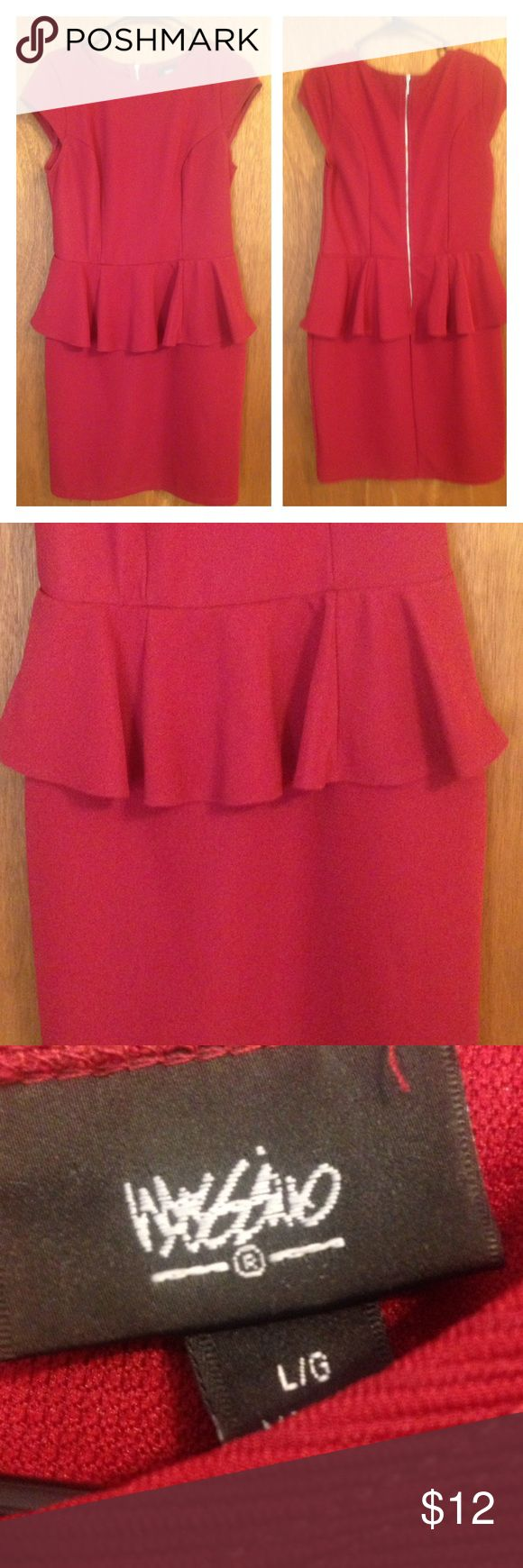 Mossimo red peplum dress size large. Super cute red peplum dress by Mossimo in size large. Mossimo Supply Co. Dresses Midi