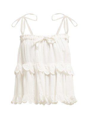 a93d0f06cdd10 Stella Hotte tiered cotton top