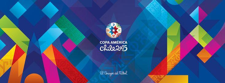 Edição da Copa América 2015, no Chile, quebra padrão e estréia nova diretriz para identidades visuais do evento.