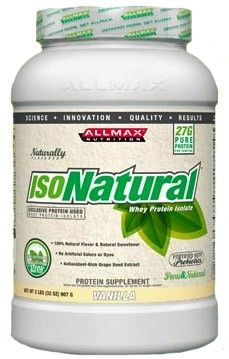 Allmax Nutrition IsoNatural - Chocolate, Vanilla & Unflavored
