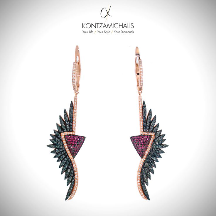 Add an aura of luxury and fashion to your style with these unique #anemosCollection earrings.  #KontzamichalisJewellery