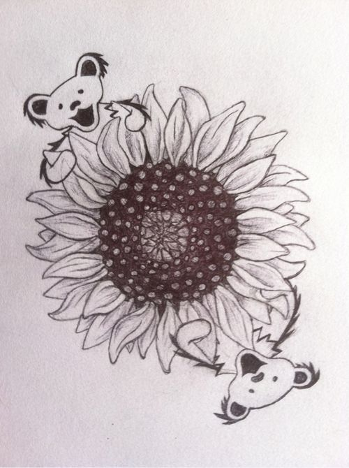 grateful dead bear sunflower - Google Search