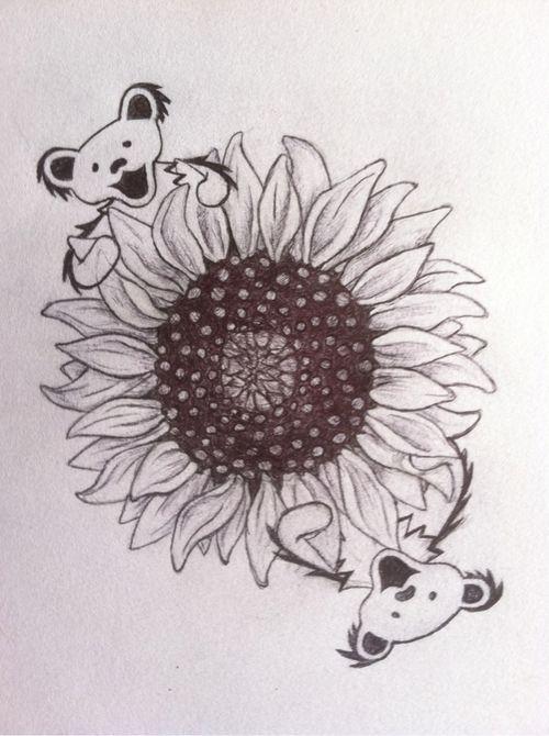 grateful dead bear sunflower - Google Search