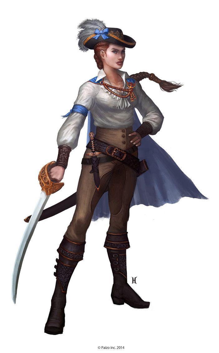 Taldan Female from Pathfinder RPG. Art by Nemanja Stankovic.