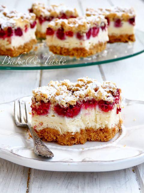 Bake: Kruche ciasto z malinami i pianką budyniową