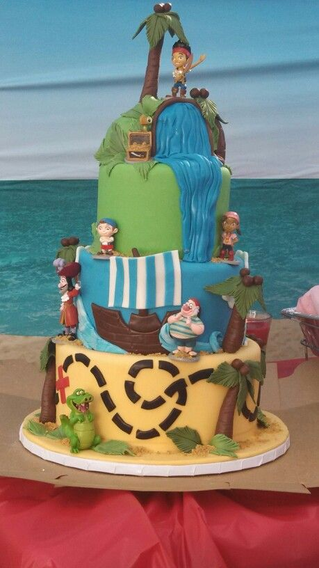 Jack and the never land pirates birthday cake from bread basket in Camarillo
