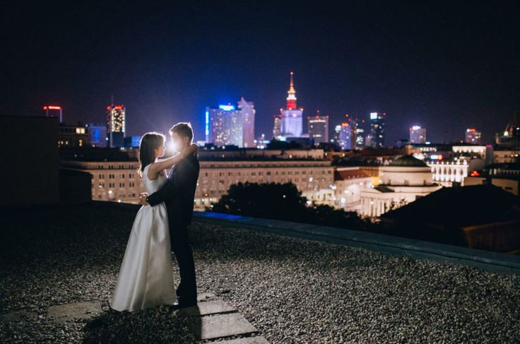 Wedding Studio Słoń: #wedding #realwedding #warsaw #polandwedding #bride #groom #city #night #couple