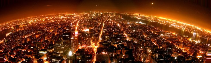 Taken from the Viewing deck at the Empire State Building. Rest assured, not my best panorama. Follow me on Facebook