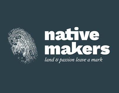 Logo (brand still in progress) for Native Makers, a network of small makers (mainly wine and oil).