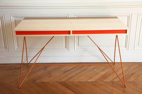 Zeer gaaf bureau, deze vulcanic desk!