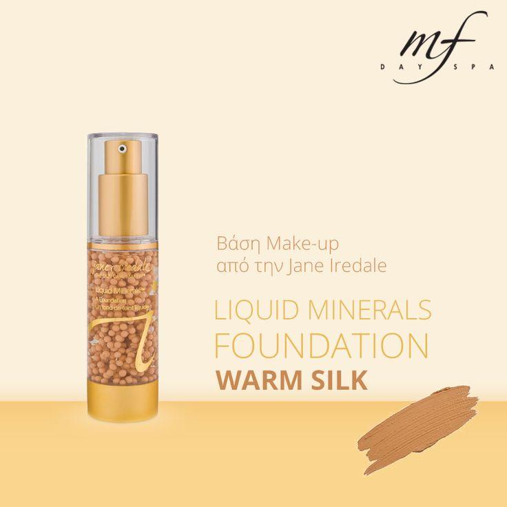 Liquid Minerals βάση make-up σε υγρή μορφή από ορυκτά μέταλλα για τέλεια κάλυψη! http://www.mfdayspa.gr/gr/proionta-mfdayspa/makigiaz-proionta/makeup-epidermida/igri-vasi-makeup-warmsilk #mfdayspa #foundation #warm_silk