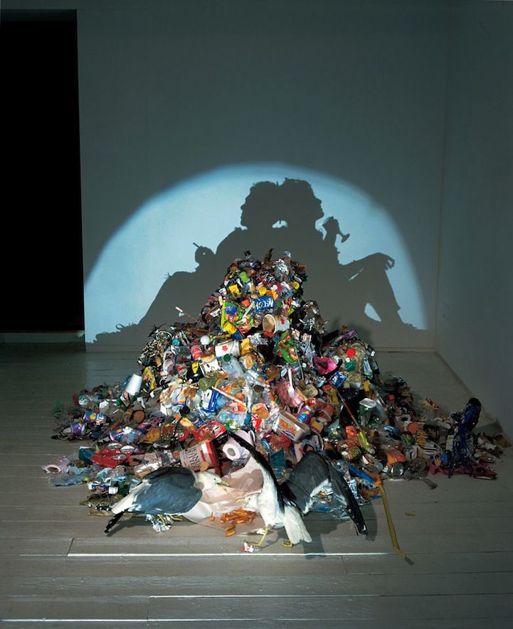 So bizarre!  Piles of trash, but cast a shadow image of something else!  Several more at website (some a bit gruesome!)