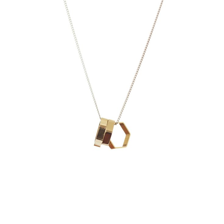 Large Hexagons Necklace