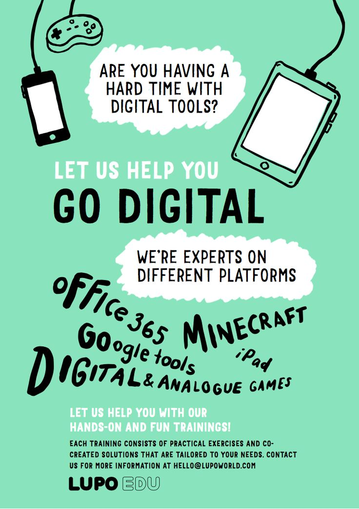Go digital! Let us help you with our hands-on and fun trainings! #science #traction #design #school #education #gamification #narrative #space #primaryschool #evaluation #appliedarts #assignment #office360 #minecraft #googletools #ipad #digitalgame #analoguegames