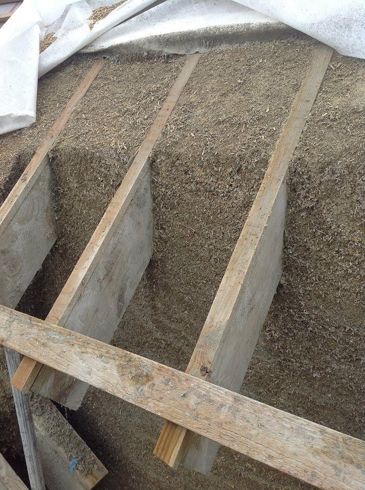 Hemcrete roof joist detail #ecohousematerials