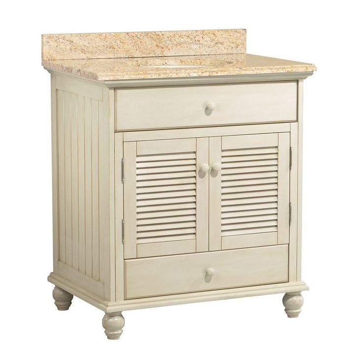 Website Picture Gallery D Vanity in Antique White and Vanity