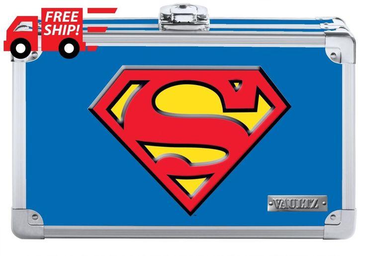 HOT Vaultz Superman Pencil Box 8.5x2.5x5.5 Inche Blue Supply Organize Brand NEW #Vaultz