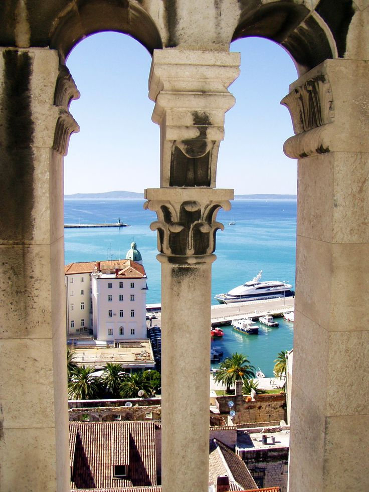 view from a tower, Split Croatia